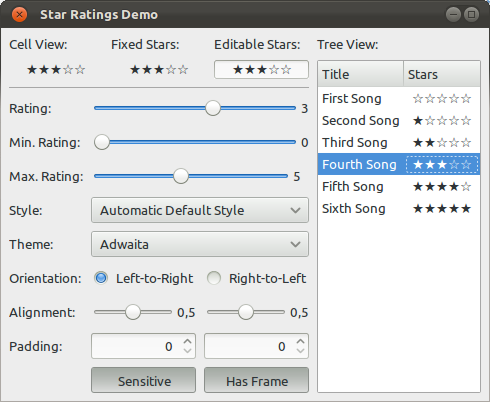 Star Ratings Demo